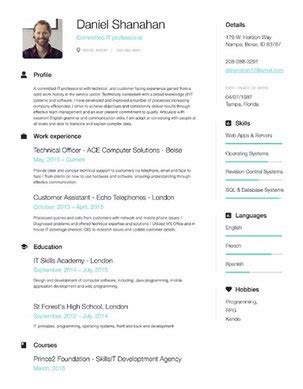 Free Fast Resume Builder by 49 Modern Resume Templates That Get You Hired Fancy Resumes