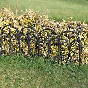 Plastic Fencing Lawn Grass Border Path Edging Fancy Small