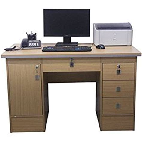 amazon home office desk computer desk in beech clr with 3 locks for home office