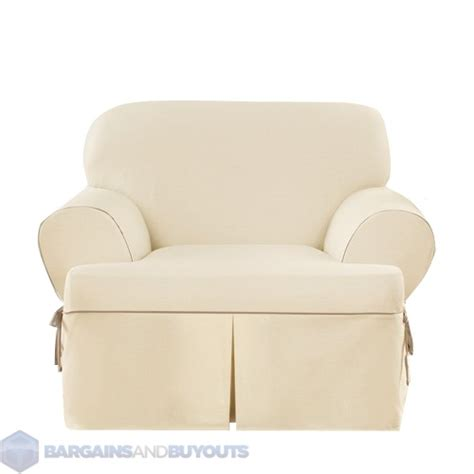 sure fit cotton duck club chair t cushion cotton blend