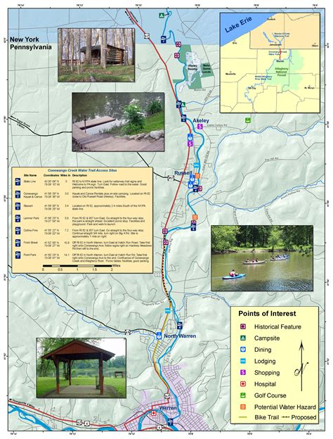 Pa Fish And Boat Commission Water Trails by Conewango Water Trail Conewango Creek Watershed Association