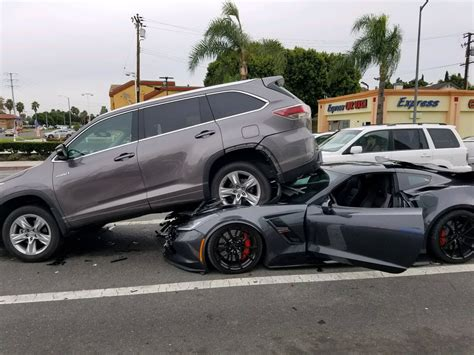 corvette lifts  suv  reckless driving crash
