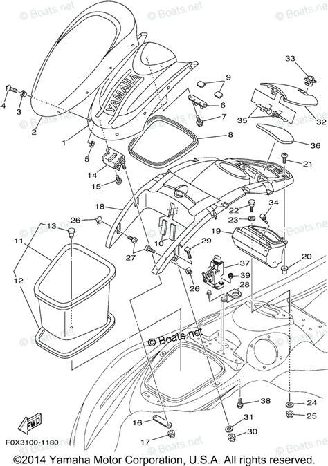 yamaha waverunner parts 2001 oem parts diagram for engine hatch 2 boats net