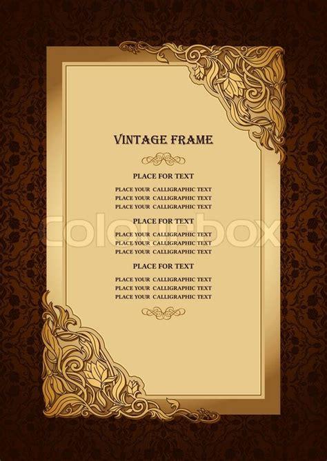 Vintage floral background with royal gold ornamental art