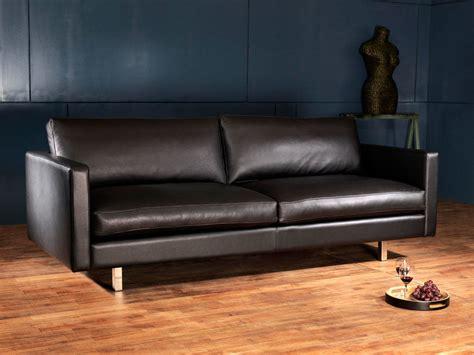 canape en cuir noir métropole canapé cuir design et haut de gamme canapé
