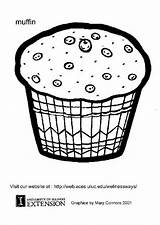 Muffin Coloring Pages Muffins Edupics Printable Colouring Sheets Books sketch template