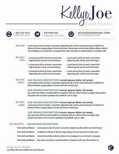 creative event planner resume google search With event planner resume