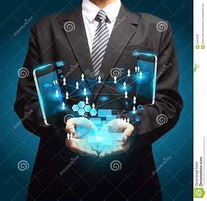 Mobile Phones Technology Business In Hand Stock Illustration