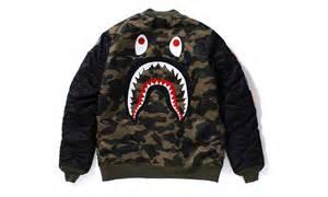 BAPE Shark Camo Bomber Jacket