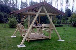 Balancelle De Jardin En Bois : balancelles en bois m le bois ~ Teatrodelosmanantiales.com Idées de Décoration