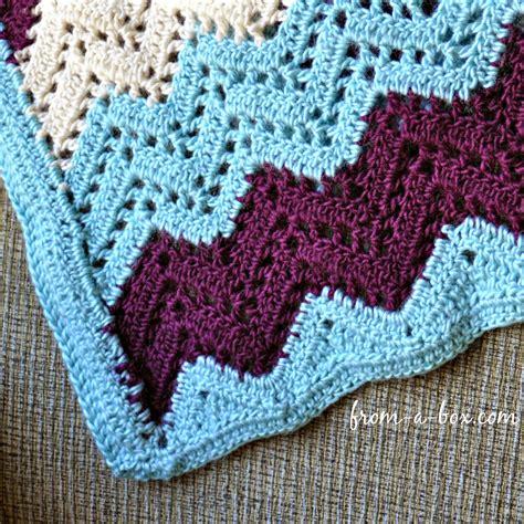 ripple crochet pattern ripple afghan blanket crochet pattern by freya esme designs from a box