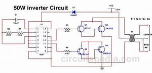 50w 220v Inverter Circuit Diagram Using Ic 4047