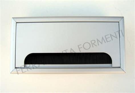 Passacavi Per Scrivania by Passacavi Rettangolare Per Scrivania In Alluminio 160 X 80 Mm