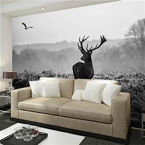 Reindeer photo wallpaper black and white pohto wallpapers ...