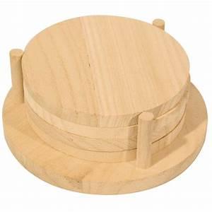 Dessous De Verre En Bois : support d corer lot 4 dessous verre en bois avec support 12cm graine cr ative ~ Teatrodelosmanantiales.com Idées de Décoration