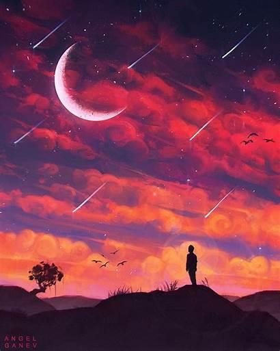 Sky Lo Fi Stars Angel Ganev Falling