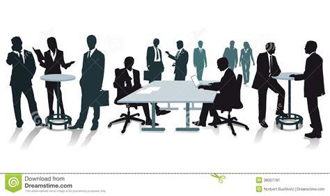affaire bureau silhouettes des gens d 39 affaires au bureau image stock