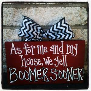 As for Me and My House We Yell Boomer Sooner