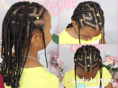fulani inspired braids kids natural hair natural hairstyles   girls hair styles