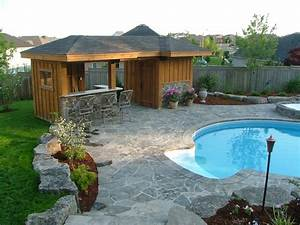 Pool Shed with Bar Area - Traditional - Shed - Toronto