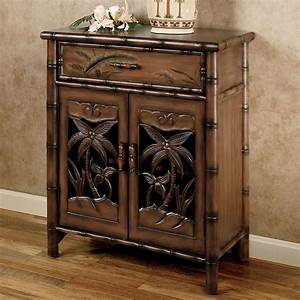 tropical palm tree storage cabinet With kitchen cabinets lowes with palm tree metal wall art