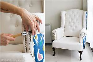 Farmhouse Style Wingback Chair Makeover Oh Everything