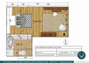 plan chambre avec dressing 1 am233nagement et With plan chambre avec dressing