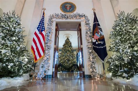 white house holiday decorations include   pound