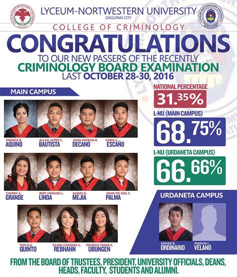 congratulations    criminologists october
