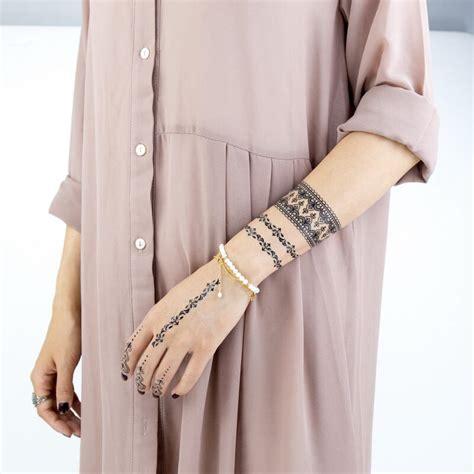 faux tatouage mandala black  bracelet kolawi