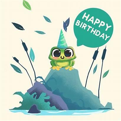 Birthday Ecard Frog Happy Critters