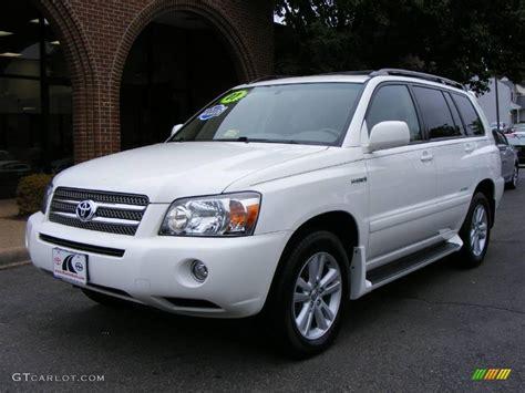 Toyota Highlander 4wd by 2007 White Toyota Highlander Hybrid Limited 4wd
