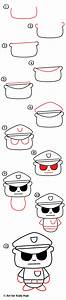 How To Draw A Cartoon Policeman Art For Kids Hub