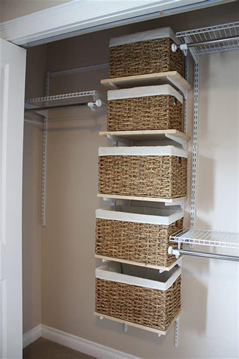 Closet Organizer Baskets redesigning a closet organizer for a new space