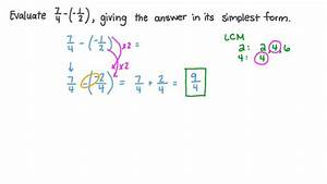 Lesson  Subtraction Of Rational Numbers