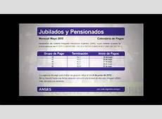 Cronograma de Pago Jubilados y Pensionados YouTube