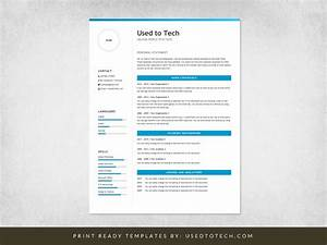 Proper Layout For A Resume Professional Resume Template In Microsoft Word Free Used