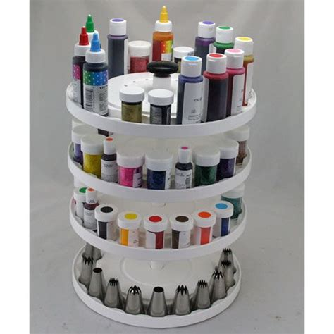 tier cake decorating carousel organizer kitchen krafts