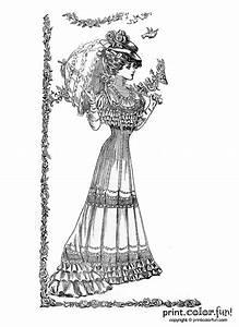 vintage springtime 1907 coloring page print