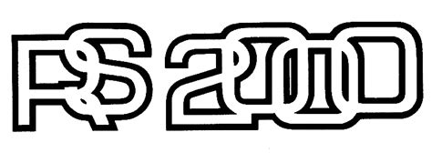 logo auto 2000 ford escort logo font
