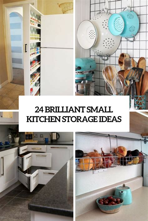 ideas for kitchen storage in small kitchen 24 creative small kitchen storage ideas shelterness 9611