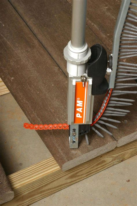 Installing Trex Decking With Fasteners by New Collated Deck Screws For Fast Installation Of