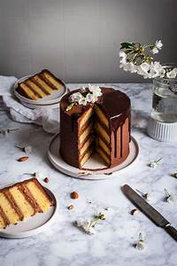marzipan cake with chocolate buttercream the