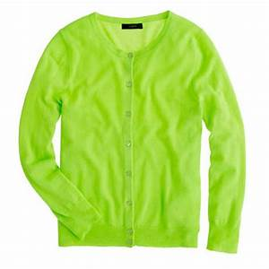Neon Green Cardigan Gray Cardigan Sweater