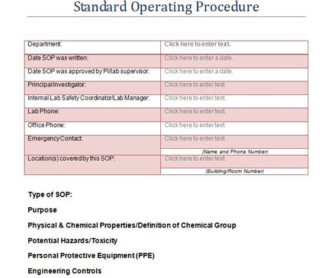 10 standard operating procedure template word joblettered 37 best standard operating procedure sop templates 18433