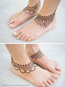 Simple ankle henna | Henna Inspiration- Feet/Legs ...
