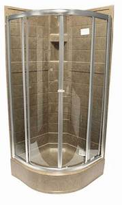 36 U0026quot  Round Shower Door  U2013 Brushed Nickel  U2013 Clear