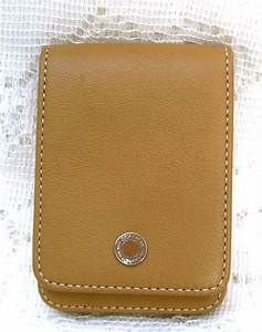 Coach leather credit card business card gift card for Business card holder coach