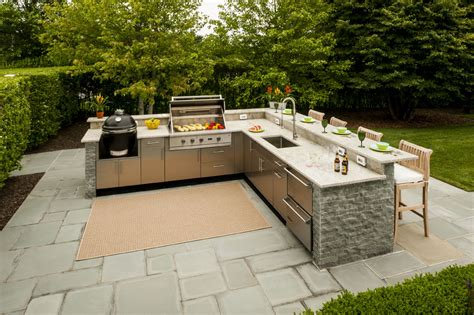 backyard kitchen designs l shaped outdoor kitchen design inspiration danver 1446