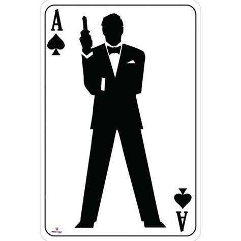 Rock And Roll Bedroom Ideas by Ace Of Spades Bond Silhouette Playing Card James Bond